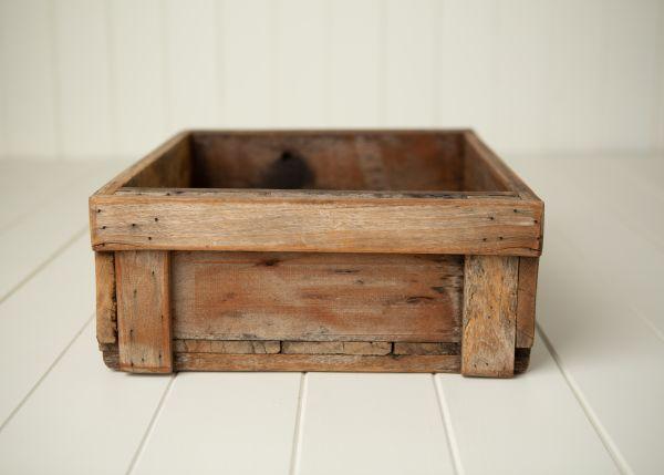 Holzkiste Kiste mit langem Griff