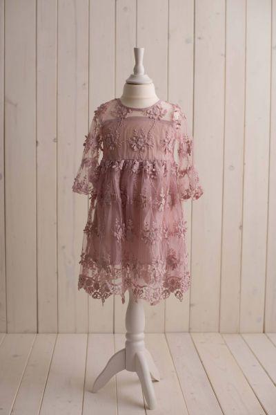 SOMMERKOLLEKTION - Spitzenkleid in vintage-pink