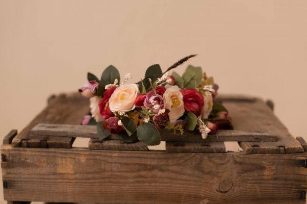 Blumenkranz für Frauen & Mädchen vintage-rosa