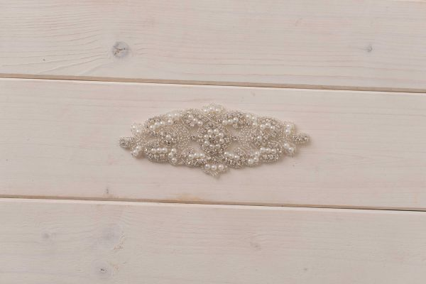 Kristallapplikation 17cm mit Perlen für Schwangerschaftsgürtel & Bauchband