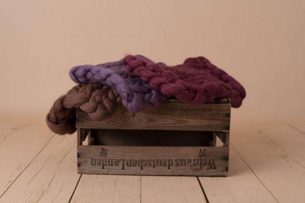 Kammzug-Decken in versch. Farben (4)