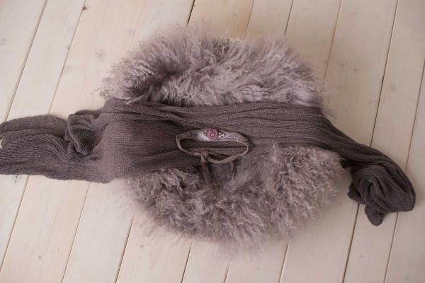 Set: Haarband, Stretch-Wrap & Fell (zart-lila-grau)