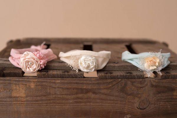 Jersey-Haarband mit Blüte zum Binden